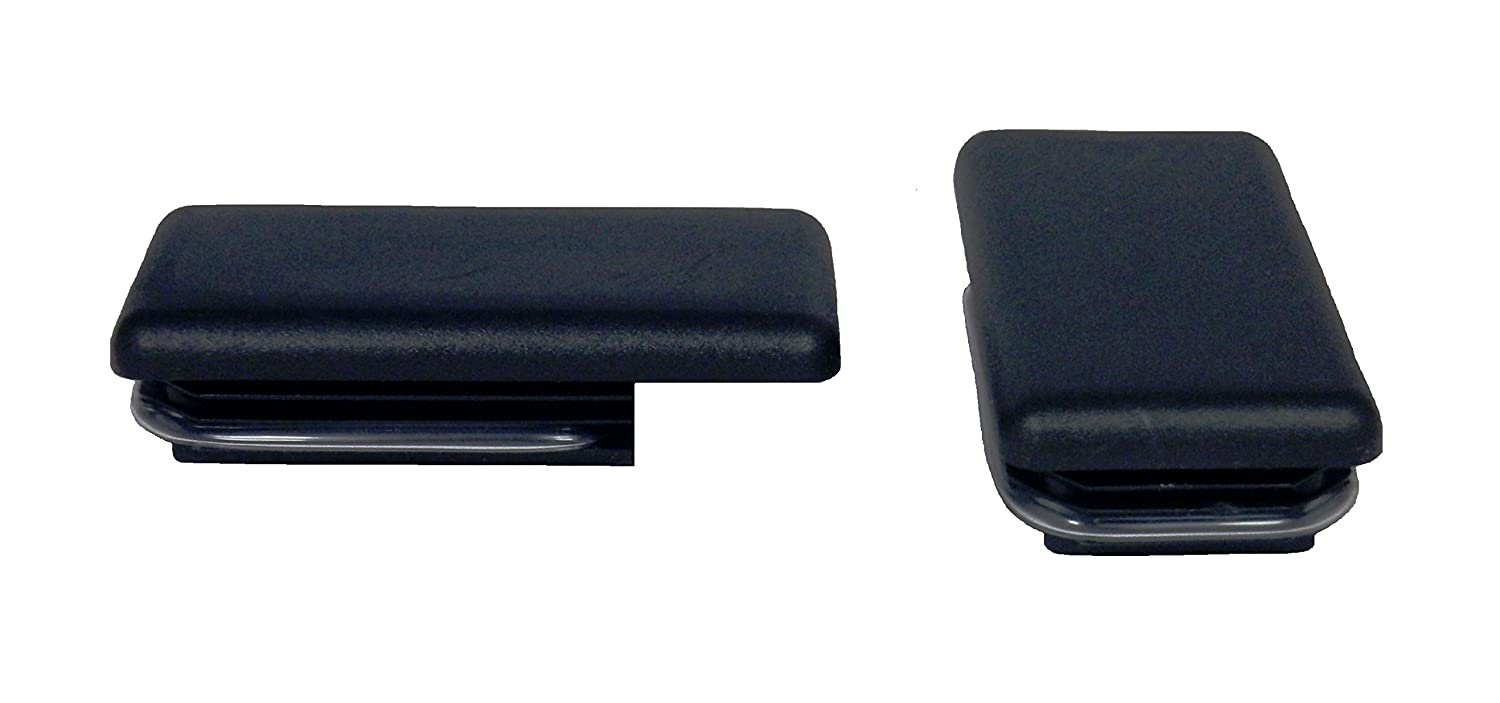 Upper Bound Set of 2 Black Truck Bed Stake Hole Cover Plugs for 2015 2016 Chevrolet Colorado GMC Canyon