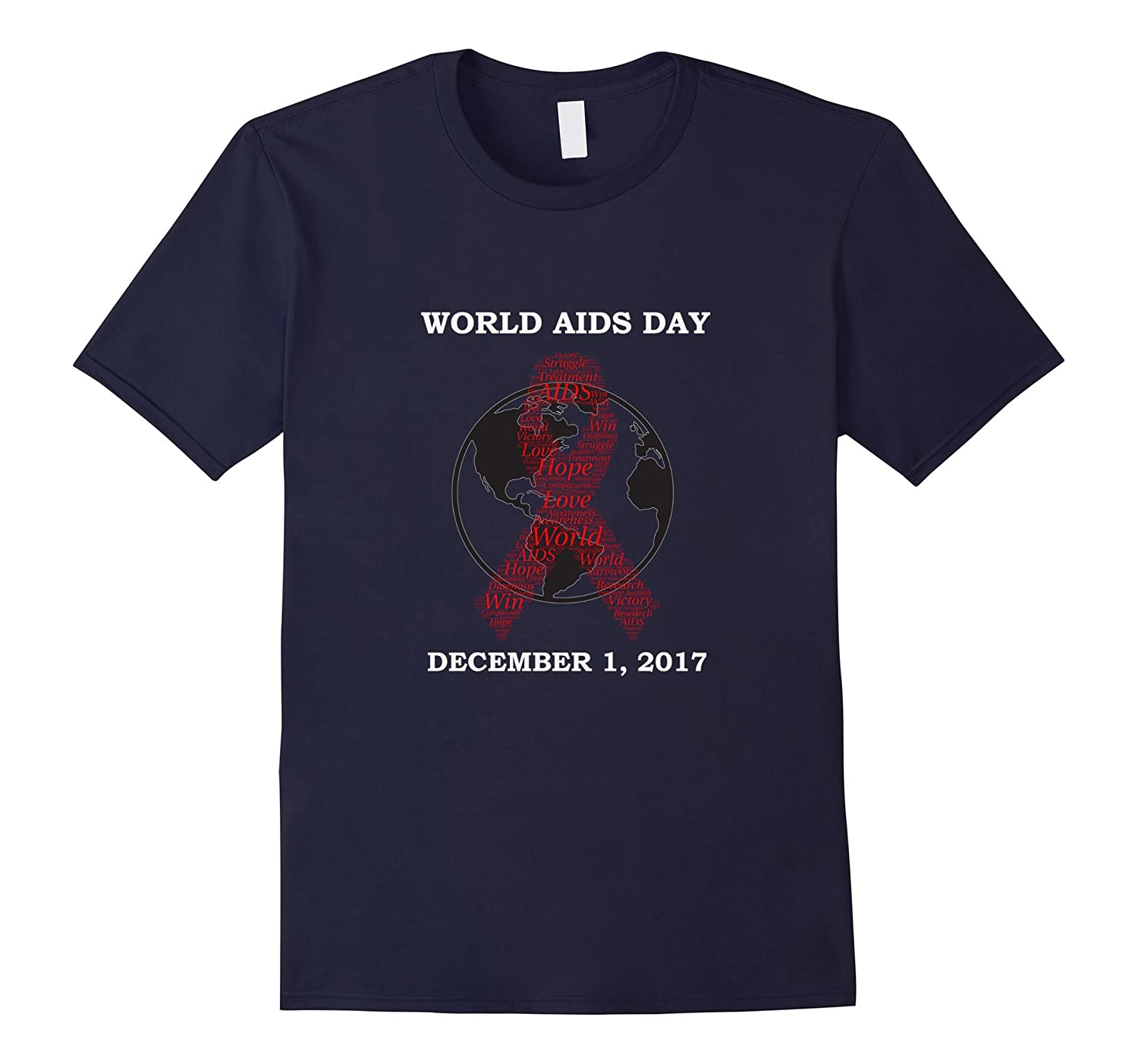 WORLD AIDS DAY REMEMBRANCE AWARENESS T-SHIRT-Rose