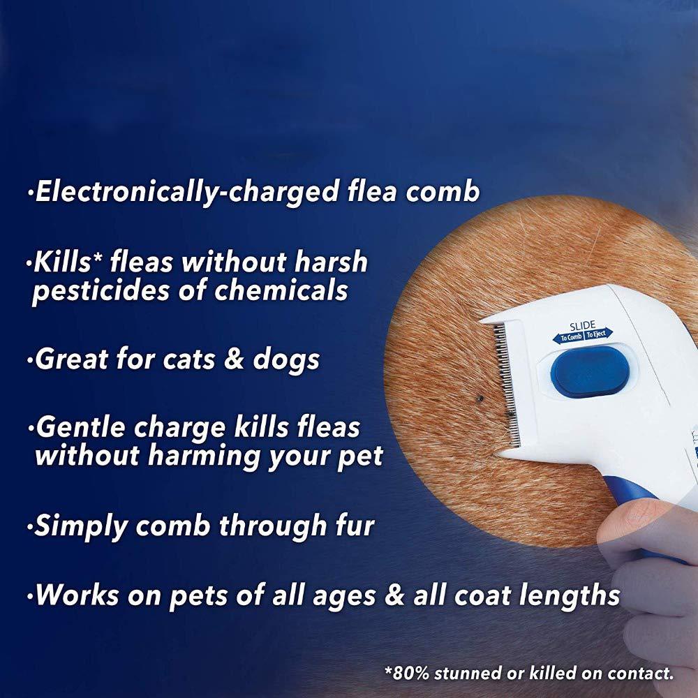 Y&J Flea Doctor Comb Electric Dog Anti Flea Comb Head Lice Remover Pets Flea Control Flea&tick Killer Pets Products by Y&J (Image #2)