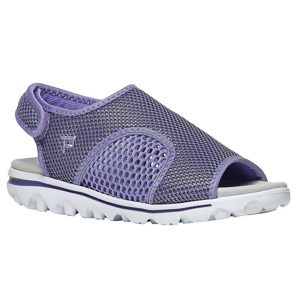 Propet Women's TravelActiv Ss Sandal B01IODE3A2 5.5 B(M) US|Purple, Black