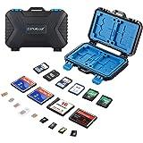 SD Card Holder, PULUZ Waterproof 26 Slots Memory Cards Case Stocker Shell Protector Cover Storage Box, Capacity: 4*CF + 8*SD + 9*TF/9*Micro SD + 1*Card Pin + 1Standard SIM + 2Micro-SIM + 2Nano-SIM