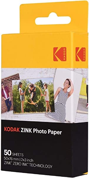 "50 Sheets Kodak 2x3/"" Sticky-Backed ZINK Photo Paper"
