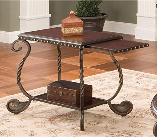 Amazon Com Greyson Living Riviera Wood And Metal Chairside End Table By By Furniture Decor