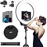 """AFI 16"""" Selfie Ring Light with 3 Color Modes 79"""" Extendable Tripod Stand Phone Camera Holder, 320 Bulbs 6500K 10…"""