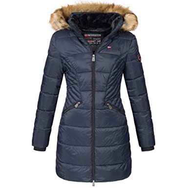 Geographical Norway Damen Jacke Wintermantel Parka Winterjacke Stepp Mantel warm Kapuze Abby S XXL 3 Farben