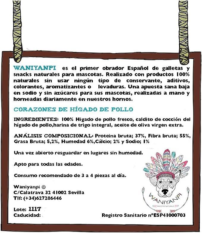 Corazones de Hígado de Pollo - Galletas 100% naturales para ...