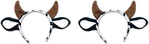 Beistle S60035AZ2 Cow Headband 2 Piece Brown//White//Black