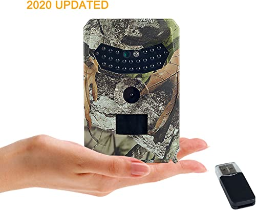 DOTSOG Ready to Use Trail Camera,12MP 1080P Mini Hunting Cam Motion Activated Night Vision No Glow IR LED IP65 Waterproof Cam for Wildlife Scounting Home Security Outdoor Surveillance