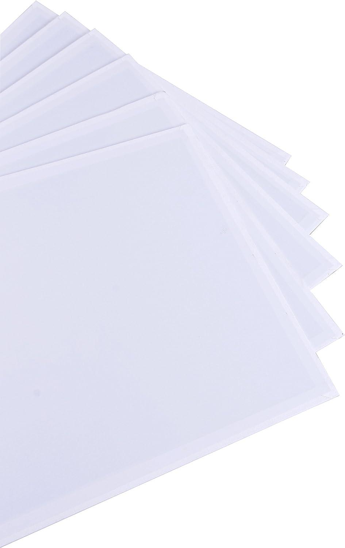 Exerz Lot de 6 Panneaux de Toile 30x30cm// Cartons entoil/és//Tableaux en Toile /à Peindre//280GSM// 100/% Coton Pr/é-/étir/é//Vierge//Triple appr/êt//sans Acide//Grain Moyen// 0,3 cm d/épaisseur