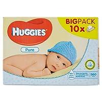 Huggies Pure Salviette Umidificate per Bambini, 10 Pacchi da 56 Pezzi