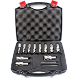Annular Cutter Set 13 pcs JESTUOUS 3/4 Inch Weldon Shank 1 Cutting Depth and Cutting Diameter from 7/16 to 1-1/16 for Drill P
