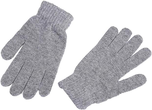 Kentop Guantes de Invierno Mujer Hombre Calientes Guantes de algodón Guantes Guantes de Punto Guantes para Pantalla táctil Touch Gloves Smartphone Guantes, Color Gris, tamaño Medium: Amazon.es: Hogar