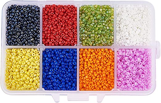 1200PCS Multi Colors Czech Glass Seed Spacer Beads Jewelry Making DIY 2mm New