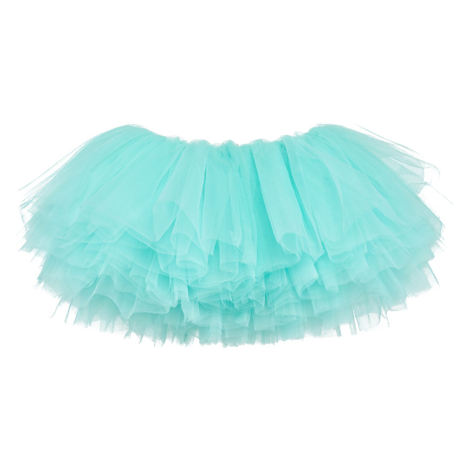 My Lello Big Girls 10-Layer Short Ballet Tulle Tutu Skirt (4T-10yr) -Aqua by My Lello