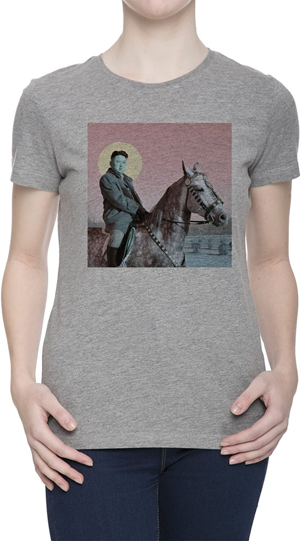 Kim Jong Un Camiseta para Mujer Gris Todos Los Tamaños   Women's Grey T-Shirt Top