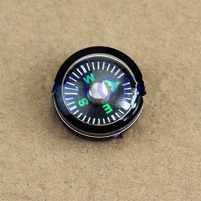 TeemorShop 5Pcs 20mm Button Shape Small Mini Survival Compasses for Outdoor Camping HikingGift for Friends//Kids