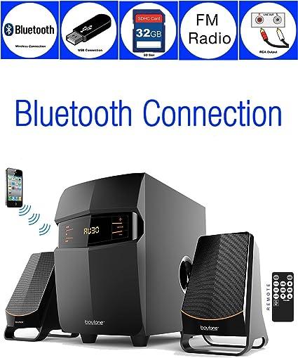 Boytone BT-324F  Wireless Bluetooth Speaker System 2.1 Multimedia SD FM Radio