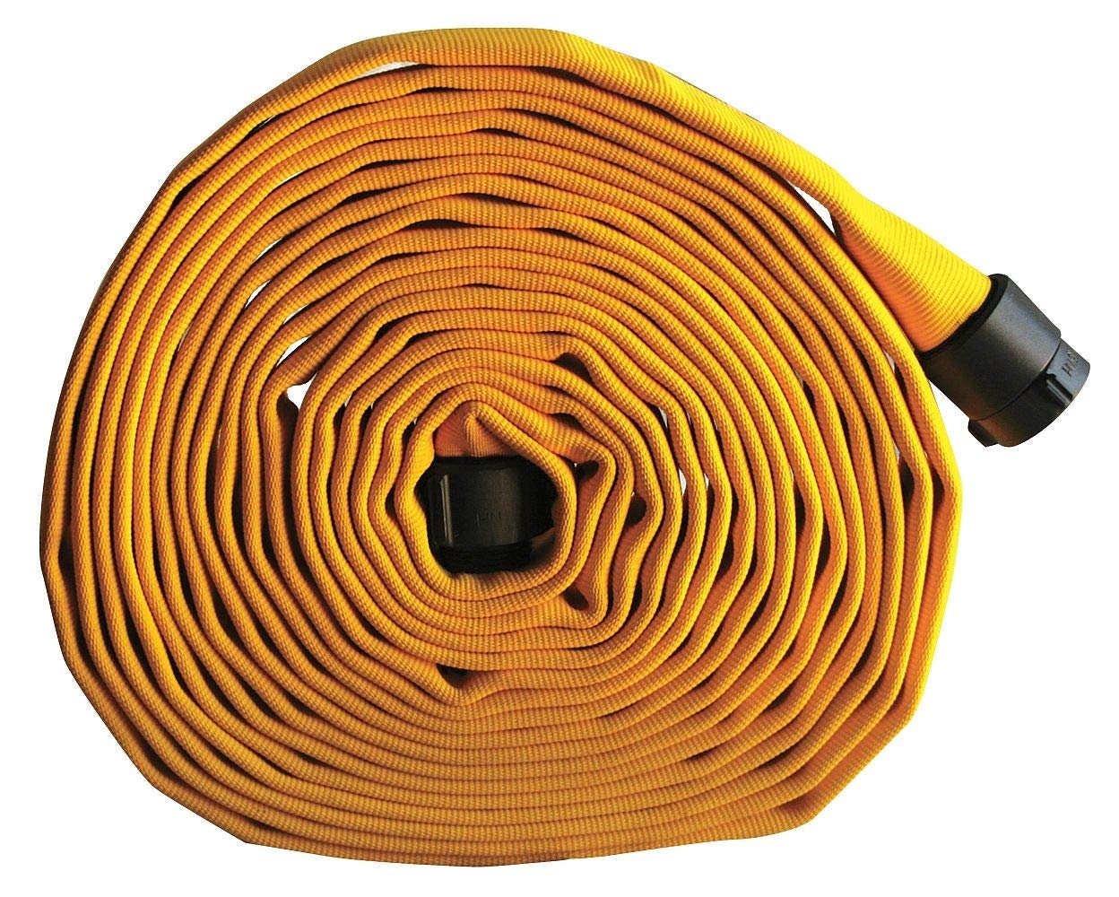 Armored Textiles Supply Line Fire Hose, Double Jacket, 3'' Hose Inside Dia, 50 ft, Yellow - G52H3HDY50N