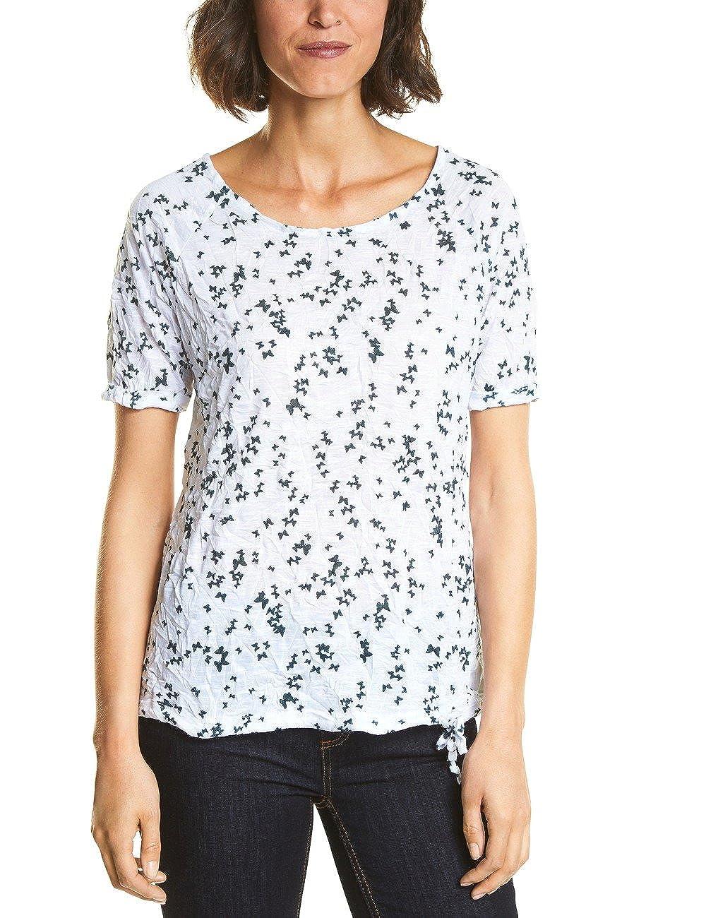 Street One Damen T Shirt Mehrfarbig White 30000 zSZjim4F gut