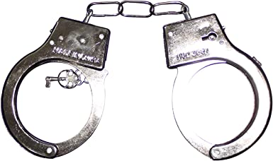 Officer Costume Role Police Handcuffs Toy Hand Cuffs Child Fancy Dress Sheriff