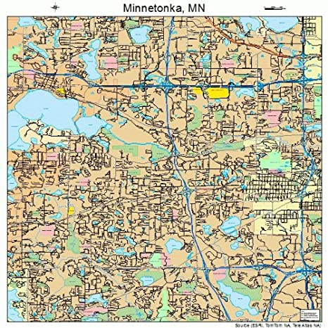 Amazon.com: Large Street & Road Map of Minnetonka, Minnesota MN ...