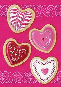 Toland Home Garden Heart Cookies 28 x 40 Inch Decorative Valentine Cookie Dessert House Flag