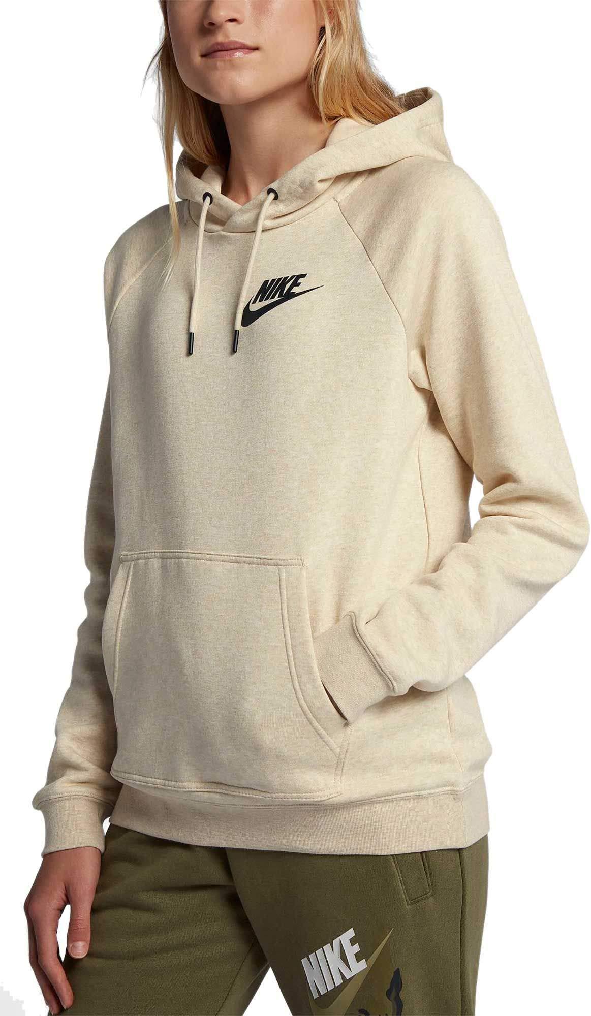 Nike Womens Sportswear Rally Hoodie (Light Cream/Small)