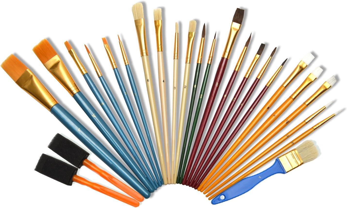 3 10 cm ponti recinzioni Set di 4 pennelli da pittura armadi per pittori e proprietari di casa per porte 4 misure da 1 2
