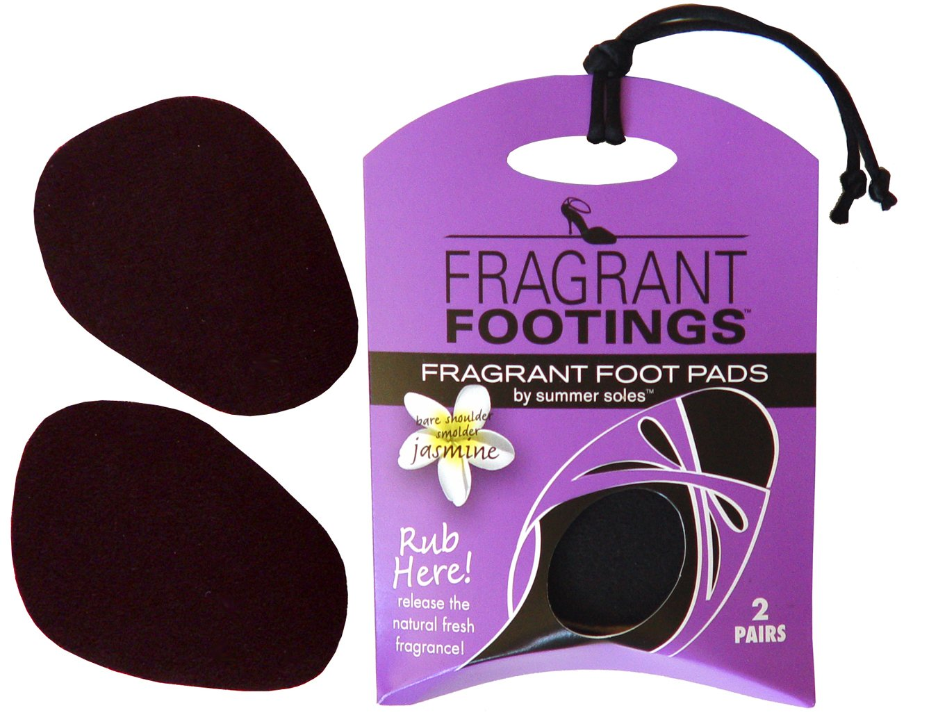 Summer Soles Fragrant Footings Ball of Foot Women's Insole for Sandals, Pumps, Flats to Reduce Moisture