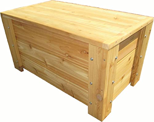 Premium Quality Indoors Outdoors Cedar Storage Bench