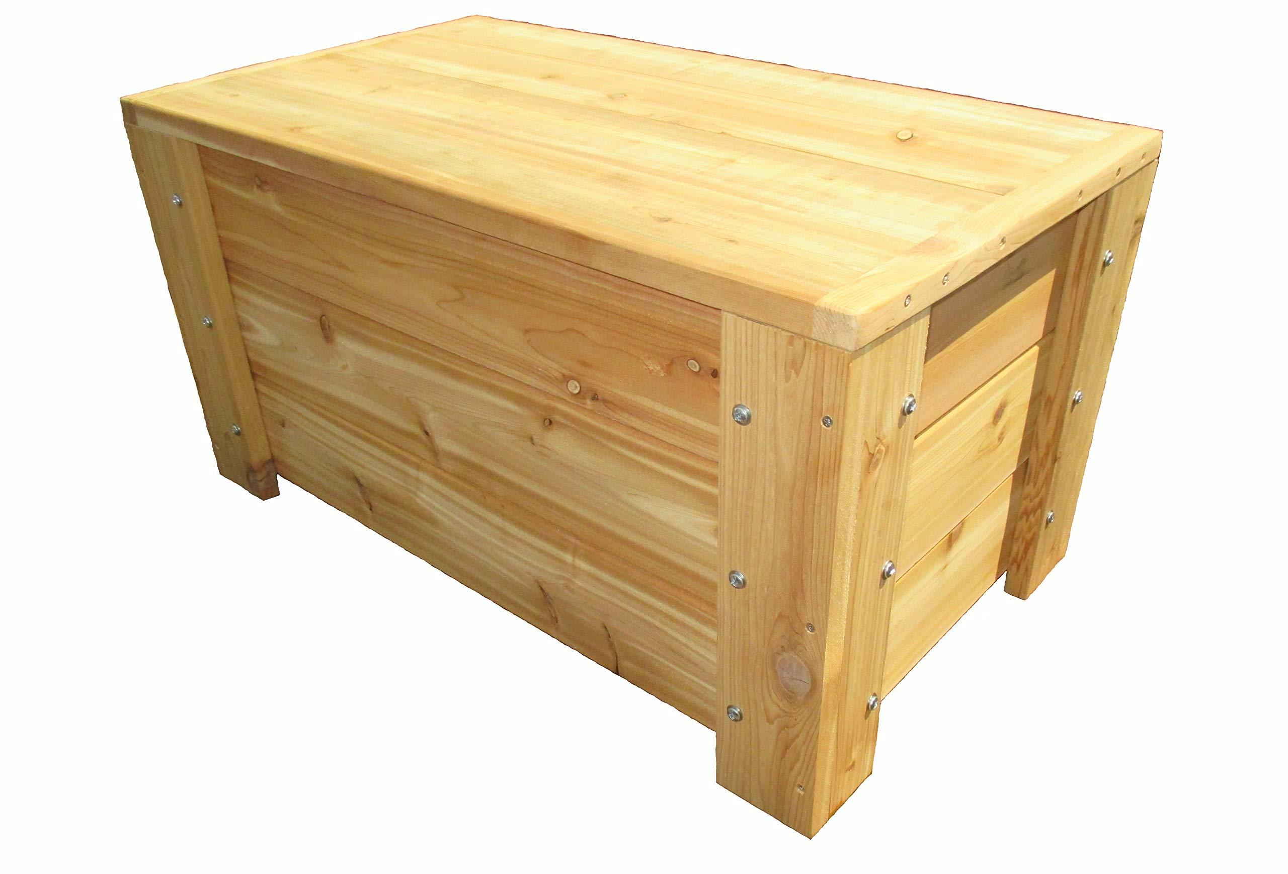 Premium Quality Indoors/Outdoors Cedar Storage Bench by Infinite Cedar