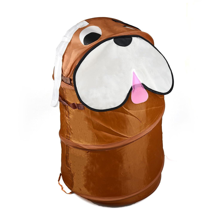 ASAB, Wäschekorb / Aufbewahrungskorb / Spielzeugkorb für Kinder, Tierdesign, zylinderförmig, faltbar hund zylinderförmig