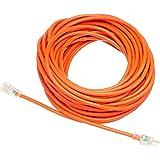 AmazonBasics 12/3 SJTW Heavy-Duty Lighted Extension Cord | Orange, 100-Foot (Renewed)