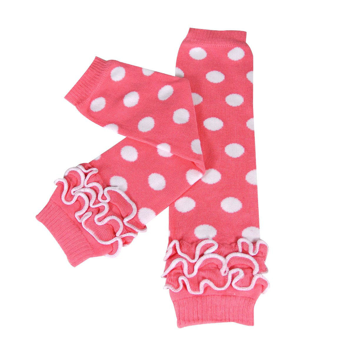 Set of 2 Hearts /& Dots Wrapables Colorful Baby Leg Warmers