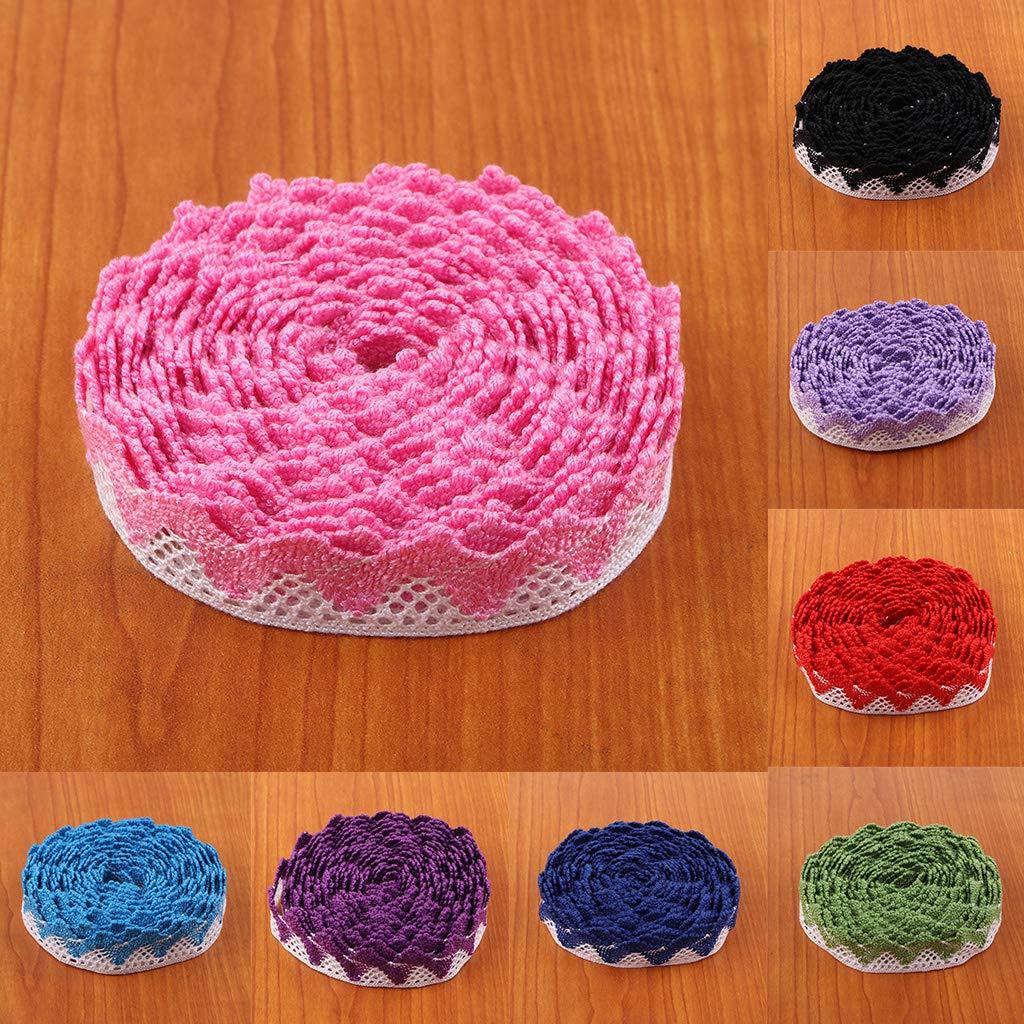 Rose 5 m/ètres B Blesiya Bordure en Dentelle Garniture Scrapbooking Carte Dentelle Ruban Frang/ée Fabrication Fournitures D/écorations Vintage Color/é
