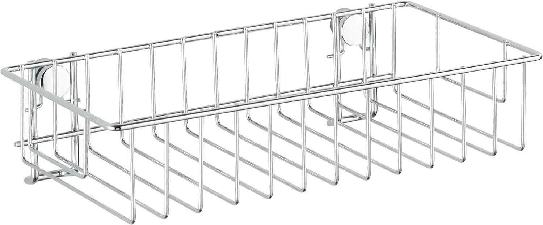 chrom Wenko 20633100 Wandregal 2 Etagen Classic Stahl 24 x 26 x 14 cm