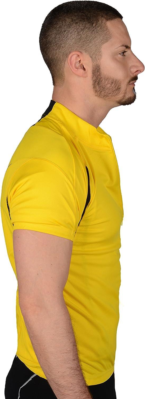 More Mile Maillot de cyclisme pour homme /à manches courtes avec demi-fermeture /Éclair ventil/é