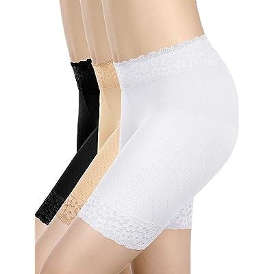 3 Piezas Pantalones Cortos de Encaje Ropa Interior Pantalones Cortos de Yoga Estiramiento Seguridad Leggings Calzoncillos para Mujeres Chicas: Ropa y accesorios
