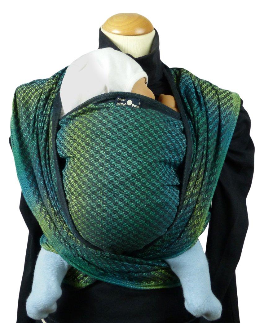 DIDYMOS Woven Wrap Baby Carrier Facett Tethys Organic Cotton , Size 8 570 cm