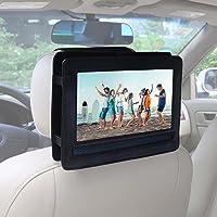 Car Headrest Mount Holder for Buyee Handheld Portable DVD Player 9.5 inch 270 Degree Swivel Screen - Black