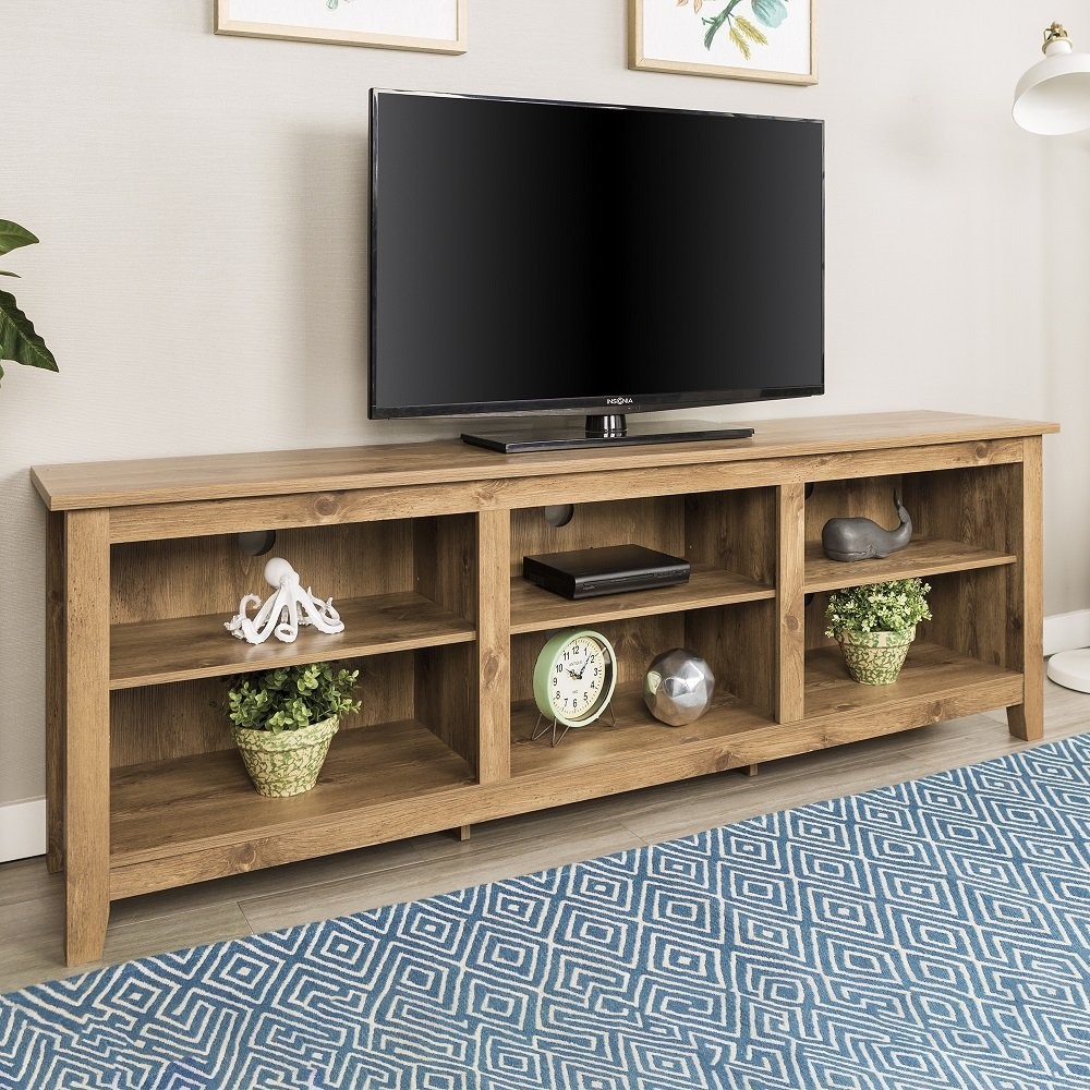 New 70 Inch Wide Barnwood Finish Television Stand by Home Accent Furnishings