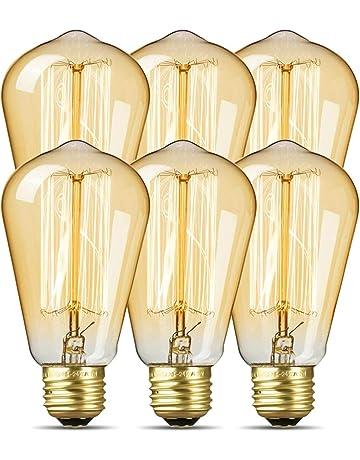 Paquete de 6 bombillas Edison, ICONNTECHS Bombillas Edison, Luz Estilo Antiguo Vintage, 40W