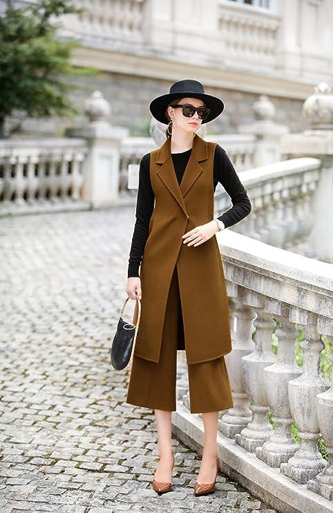 Womens HIDRRU Lana Cashmere abrigos abrigos de cachemir 2017 otoño y el invierno, el nuevo
