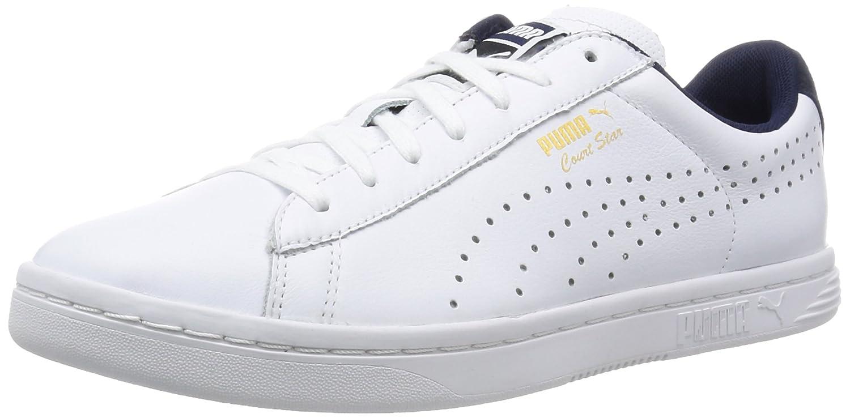 Puma Unisex-Erwachsene Court Star Crafted Turnschuhe Weiß-Weiß (Weiß Peacoat) 38 EU