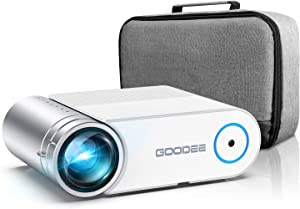 """Projector, GooDee 2020 Upgrade G500 Mini Video Projector, Max 200"""" Portable Movie Projector with Carry Bag, Home Theater Projector Support 1080P, Compatible with Fire Stick, PS4, Phone (YG420)"""