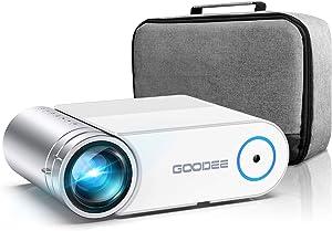 Projector, GooDee 2020 Upgrade G500 Mini Video Projector, Max 200
