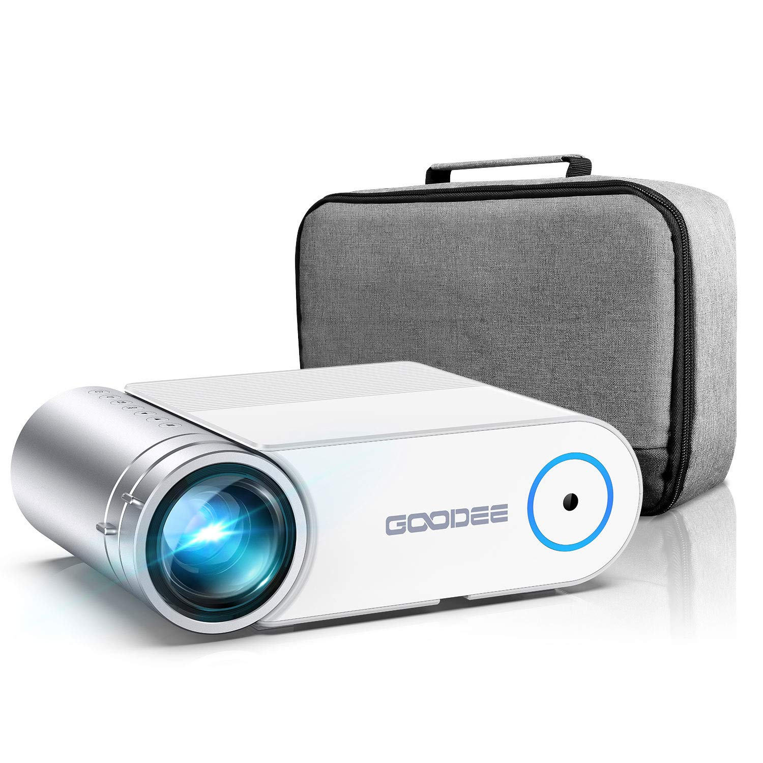 """Mini Projector, GooDee Portable HD Video Projector 200"""" Display 1080p Supported LCD Home Movie Projector Compatible with TV Stick HDMI VGA Av USB Micro SD"""
