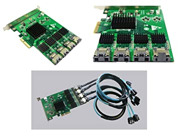 Tarjeta Controladora PCIE a SATA III - 16 puertos PCI ...