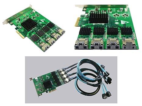 Tarjeta Controladora PCIE a SATA III - 16 puertos PCI EXPRESS ...