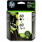 HP 60 Black & Tri-Color Original Ink Cartridges, 2 Cartridges (N9H63FN)